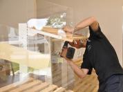 Montaż regału półki do regału piekarniczego
