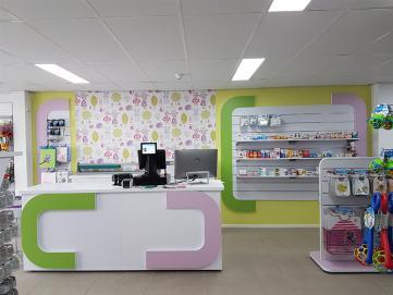 Wyposażenie sklepu dziecięcego w Hadze